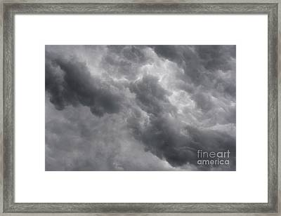 Masses Of Dark Clouds Framed Print by Michal Boubin