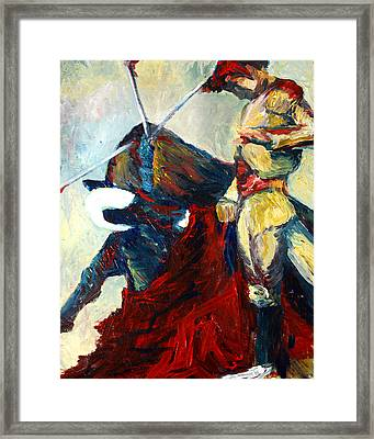 Matador Framed Print by Frank Botello