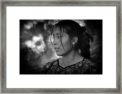 Mayan Beauty Framed Print by Tom Bell
