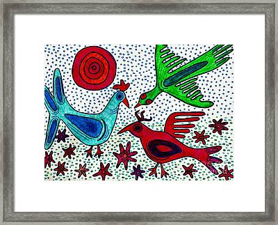 Mayan Birds Framed Print