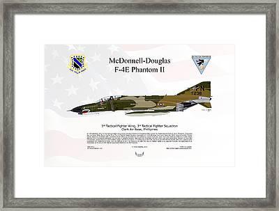 Mcdonnell Douglas F-4e Phantom II Framed Print