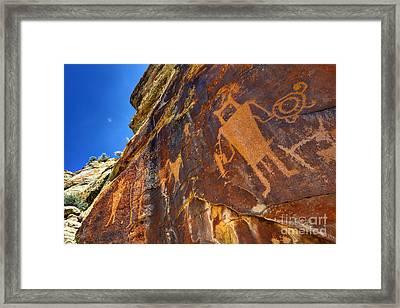 Mckee Springs Petroglyph - Utah Framed Print by Gary Whitton