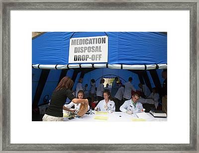 Medication Disposal Centre Framed Print by Jim West