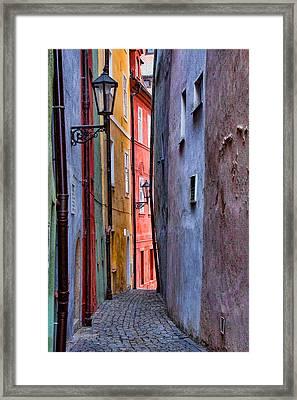 Medieval Alley Framed Print