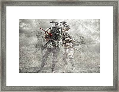 Medieval Battle Framed Print by Jaroslaw Grudzinski