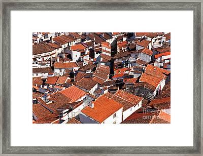 Medieval Town Rooftops Framed Print by Jose Elias - Sofia Pereira