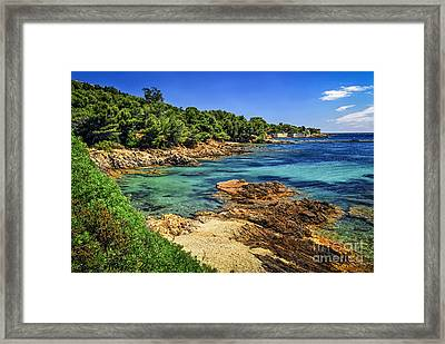 Mediterranean Coast Of French Riviera Framed Print by Elena Elisseeva