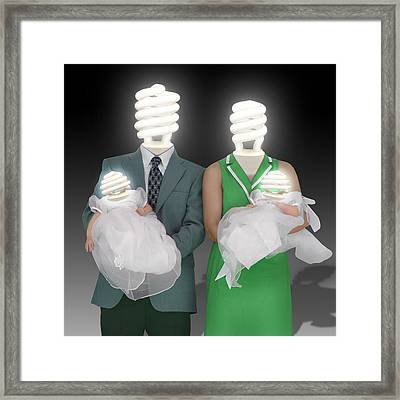 Meet The Greens Framed Print by Mike McGlothlen