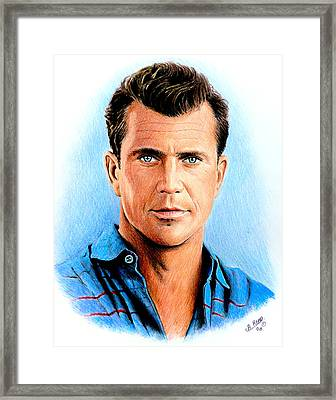 Mel Gibson Framed Print by Andrew Read