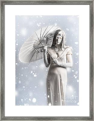 Melancholy Of Infinite Sadness. The White Vampire Framed Print by Jorgo Photography - Wall Art Gallery
