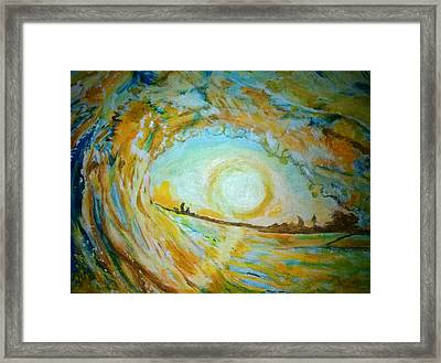 Mellow Yellow  Framed Print by Michelle Reid