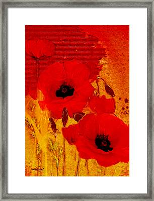 Framed Print featuring the painting Mellow Yellow by Valerie Anne Kelly