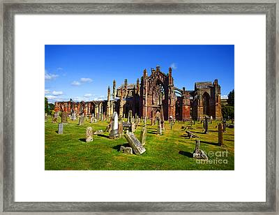 Framed Print featuring the photograph Melrose Abbey Scotland by Craig B