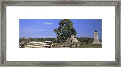 Memorial At Gettysburg National Framed Print