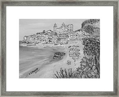 Framed Print featuring the painting Memorie D'estate by Loredana Messina