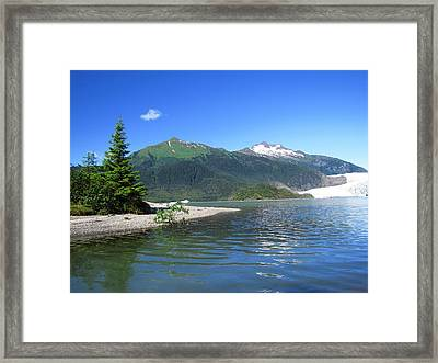 Mendenhall Glacier Framed Print by Jennifer Wheatley Wolf