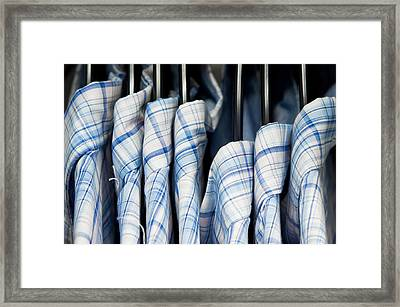 Men's Shirts Framed Print