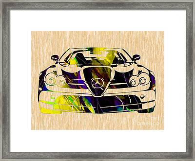 Mercedes Benz Painting Framed Print by Marvin Blaine