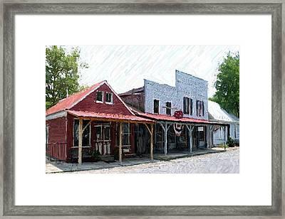 Merchants Row II - Perryville Ky Framed Print