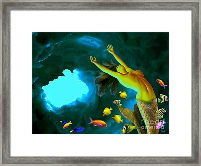 Mermaid Cave Framed Print by Steed Edwards