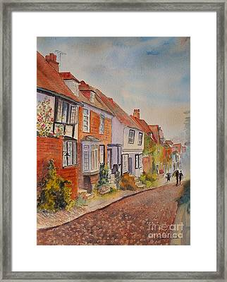 Framed Print featuring the painting Mermaid Street Rye by Beatrice Cloake