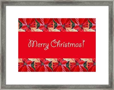 Merry Christmas Framed Print by Irina Sztukowski