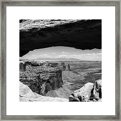 Mesa Arch Framed Print by Radek Hofman