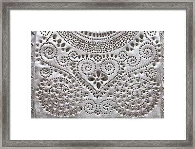 Metal Pattern Framed Print by Tom Gowanlock