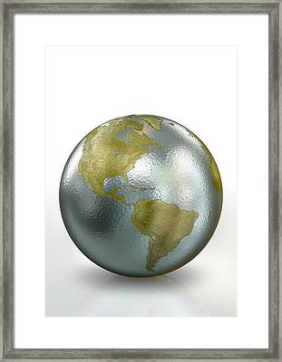 Metallic Earth Framed Print by Animated Healthcare Ltd/science Photo Library