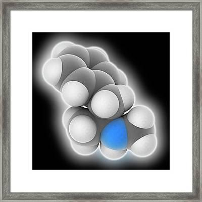 Methamphetamine Drug Molecule Framed Print by Laguna Design