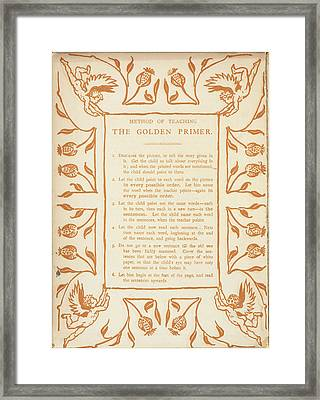 Method Of Teaching The Golden Primer Framed Print by British Library