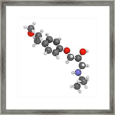 Metoprolol High Blood Pressure Drug Framed Print by Molekuul