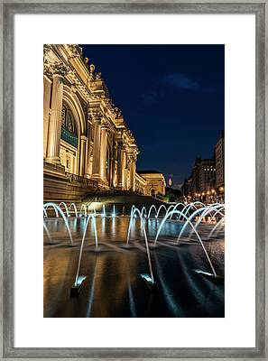 Metropolitan Museum Of Art  Met Framed Print by F. M. Kearney