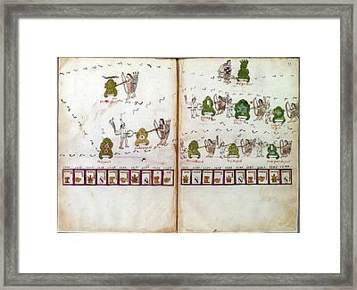 Mexico Aztec Codex Framed Print by Granger