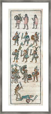 Mexico Aztec Warriors Framed Print