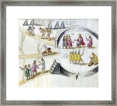 Mexico Spanish Conquest Framed Print by Granger