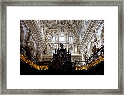 Mezquita Cathedral Interior In Cordoba Framed Print by Artur Bogacki