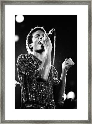 Michael Jackson 1981 Framed Print by Chris Walter