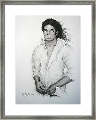 Michael Jackson Framed Print by Guillaume Bruno