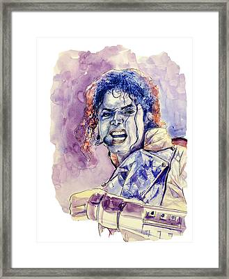 Michael Jackson Framed Print by Bekim Art