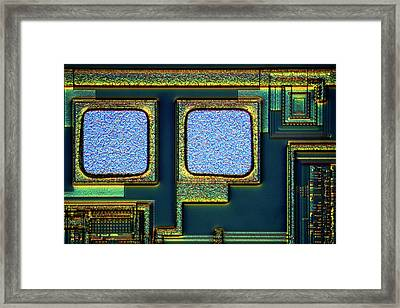 Microchip Surface Framed Print