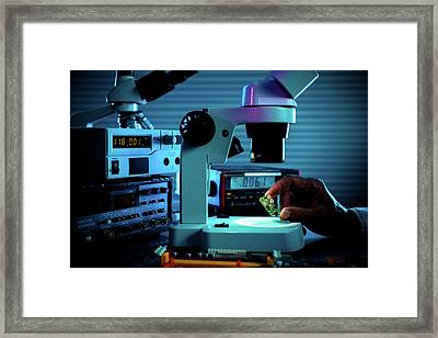 Microelectronic Device Framed Print by Wladimir Bulgar