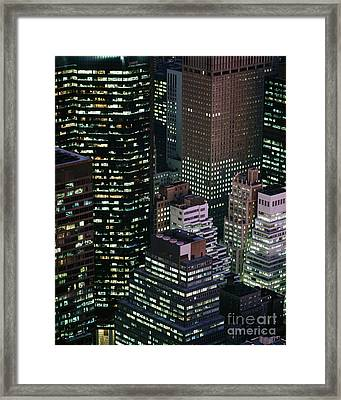 Midtown Manhattan Framed Print by Rafael Macia