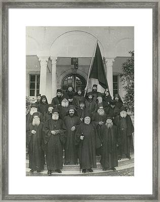 Militant Monks On Mount Athos Framed Print by Retro Images Archive