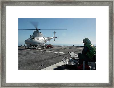 Military Helicopter Drone Framed Print by Us Navy
