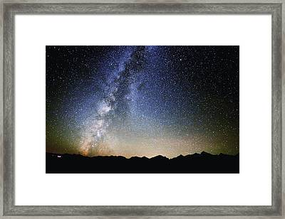Milky Way At The Tetons Framed Print