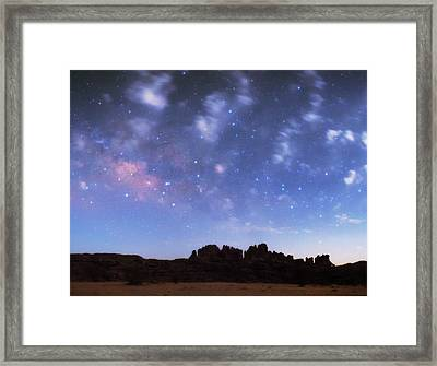 Milky Way Over The Sahara Desert Framed Print