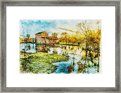 Mill By The River Framed Print by Jaroslaw Grudzinski
