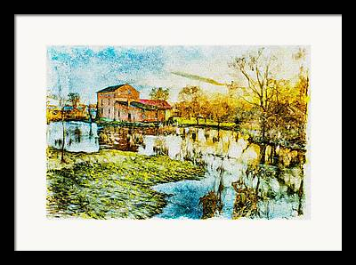 Farm Fields Mixed Media Framed Prints
