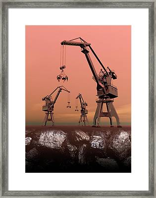 Mining Framed Print by Victor Habbick Visions